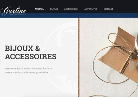 Site Prestashop Garline par Althéa Solutions